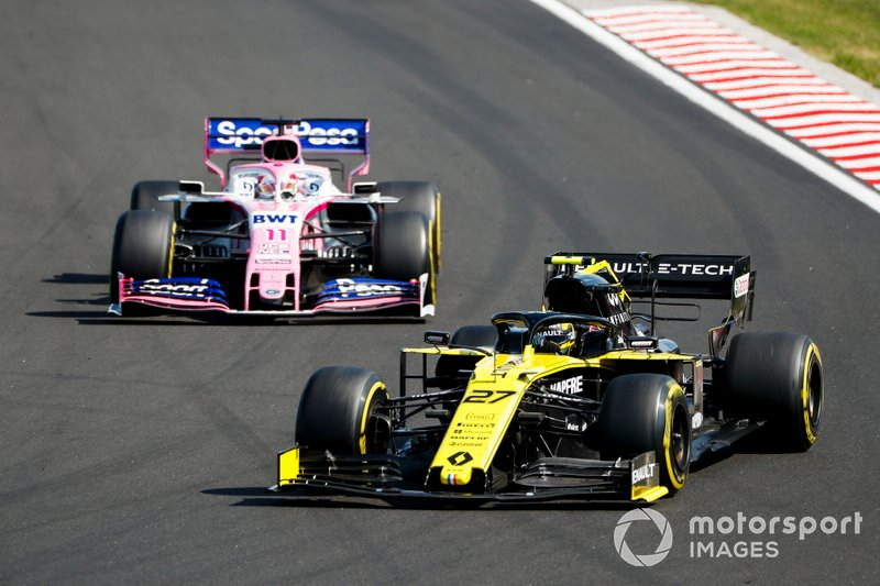 Nico Hulkenberg, Renault F1 Team R.S. 19, Sergio Pérez, Racing Point RP19