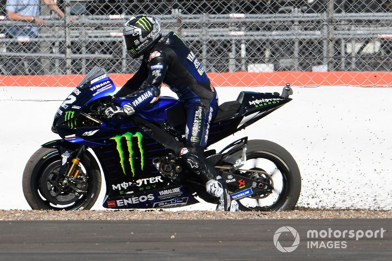 Maverick Vinales, Yamaha Factory Racing, running wide