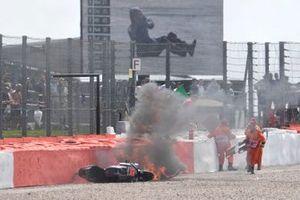 Sturz: Fabio Quartararo, Petronas Yamaha SRT