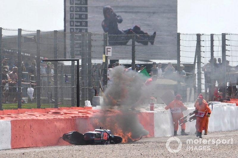 Fabio Quartararo, Petronas Yamaha SRT, Andrea Dovizioso, Ducati Team accidente
