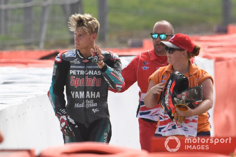 Accidente de Fabio Quartararo, Petronas Yamaha SRT