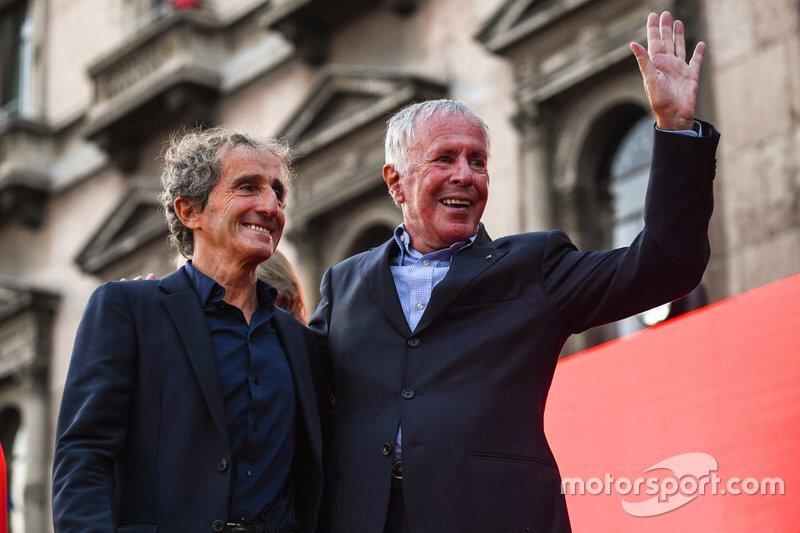 Alain Prost et Cesare Fiorio