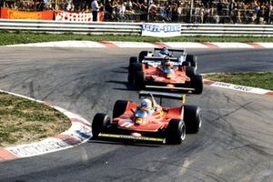Jody Scheckter, Ferrari 312T4 ve Gilles Villeneuve, Ferrari 312T4B ve Jacques Laffite, Ligier JS11 Ford