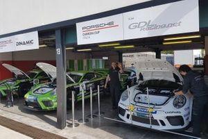 Porsche nei garage Dinamic Motorsport e GDL Racing