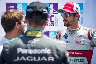Lucas Di Grassi, Audi Sport ABT Schaeffler chats with Antonio Felix da Costa, BMW I Andretti Motorsports