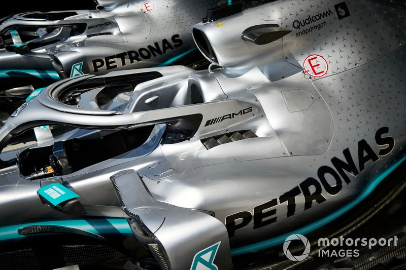 Car of Lewis Hamilton, Mercedes AMG F1 W10 and Valtteri Bottas, Mercedes AMG W10