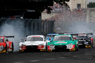 René Rast, Audi Sport Team Rosberg, Audi RS 5 DTM, Nico Müller, Audi Sport Team Abt Sportsline, Audi RS 5 DTM at the start