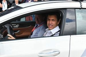 Toto Wolff, Executive Director (Business), Mercedes AMG, in the Safety Car with Dmitry Kozak, Deputy Prime Minister of Russian Federation