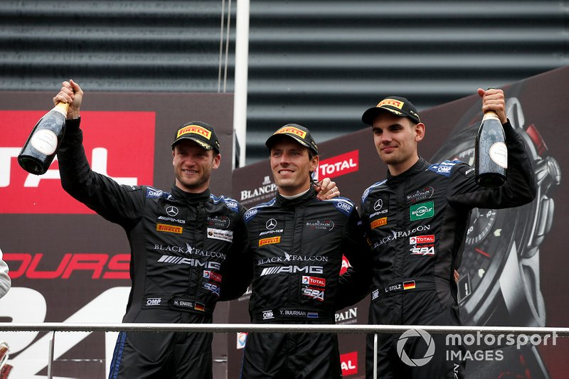 Podium: third place #4 Mercedes-AMG Team Black Falcon Mercedes-AMG GT3: Yelmer Buurman, Luca Stolz, Maro Engel