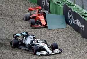 Lewis Hamilton, Mercedes AMG F1 W10, heads through the gravel