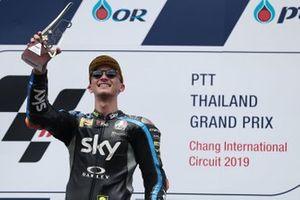 Podium: race winner Luca Marini, Sky Racing Team VR46