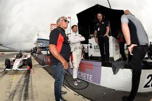 Mario Andretti, Marco Andretti, Andretti Herta with Marco & Curb-Agajanian Honda, and Bryan Herta