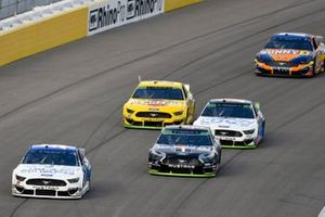 B.J. McLeod, Petty Ware Racing, Ford Mustang JACOB COMPANIES and Kevin Harvick, Stewart-Haas Racing, Ford Mustang Mobil 1