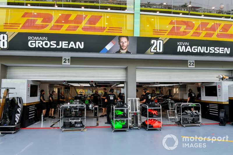 Garage of Haas F1 Team