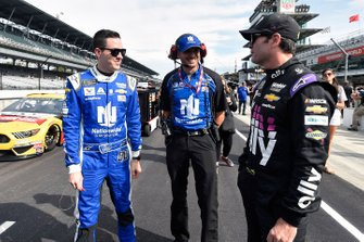 Alex Bowman, Hendrick Motorsports, Chevrolet Camaro Nationwide and Jimmie Johnson, Hendrick Motorsports, Chevrolet Camaro Ally