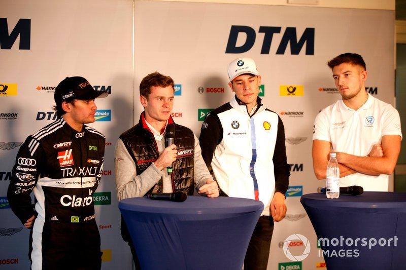 Conferenza stampa, Pietro Fittipaldi, Audi Sport Team WRT, Jonathan Aberdein, Audi Sport Team WRTm Sheldon van der Linde, BMW Team RBM, Jake Dennis, R-Motorsport