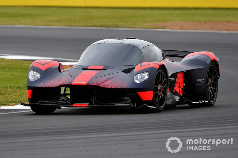 An Aston Martin Valkyrie is put through its paces