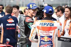 Fabio Quartararo, Petronas Yamaha SRT., Marc Marquez, Repsol Honda Team