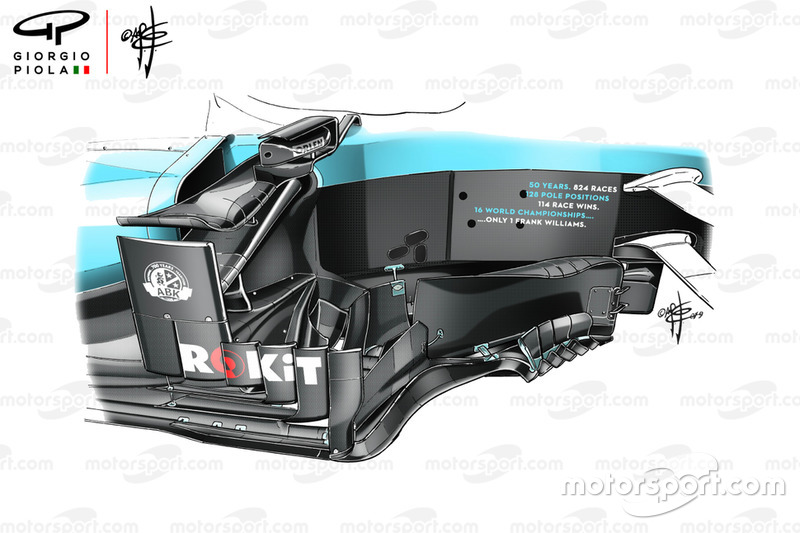 Williams FW42, bargeboard