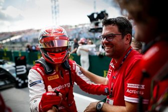 Race winner Marcus Armstrong, PREMA Racing celebrates in parc ferme