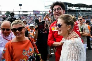 Corinna Schumacher, Gina-Maria Schumacher and Mattia Binotto, Team Principal Ferrari celebrating the F2 win of Mick Schumacher