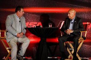 John Hindaugh y Scott Atherton en los anuncios del Estado de la Serie IMSA