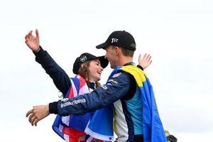 I vincitori della gara Catie Munnings, Timmy Hansen, Andretti United Extreme E