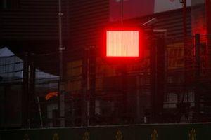 Rode lampen indiceren rode vlag-situatie