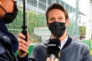 Romain Grosjean on the grid