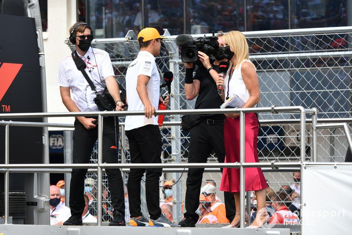 Lando Norris, McLaren in the drivers parade