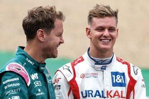 Sebastian Vettel et Mick Schumacher