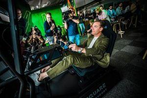 Robert Doornbos in the simulator