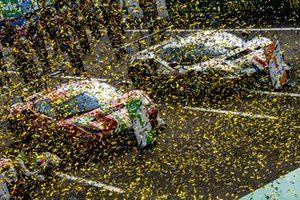 Les vainqueurs du LMGTE Pro et du LMGTE AM : #51 AF Corse Ferrari 488 GTE EVO LMGTE Pro, Alessandro Pier Guidi, James Calado, Come Ledogar, #83 AF Corse Ferrari 488 GTE EVO LMGTE Am, François Perrodo, Nicklas Nielsen, Alessio Rovera