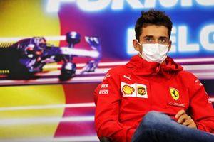 Charles Leclerc, Ferrari, in de persconferentie