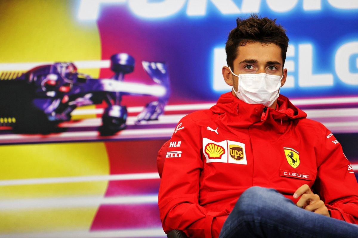 Charles Leclerc, Ferrari, en la conferencia de prensa
