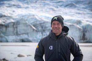 Sebastien Loeb, X44, on the Russell Glacier