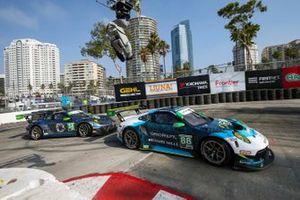#88: Team Hardpoint EBM Porsche 911 GT3R, GTD: Katherine Legge, Rob Ferriol, #34: GMG Racing Porsche 911 GT3R, GTD: James Sofronas