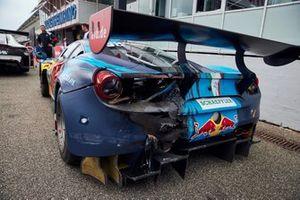 Damage car of Liam Lawson, AF Corse