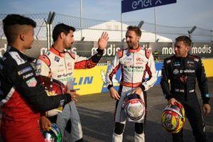 Pascal Wehrlein, Porsche, Lucas Di Grassi, Audi Sport ABT Schaeffler, Rene Rast, Audi Sport ABT Schaeffler, Robin Frijns, Envision Virgin Racing
