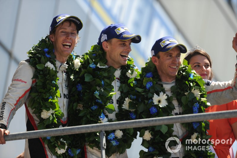 Le Mans 2017: Winnaars #2 Porsche 919 Hybrid: Brendon Hartley, Earl Bamber, Timo Bernhard