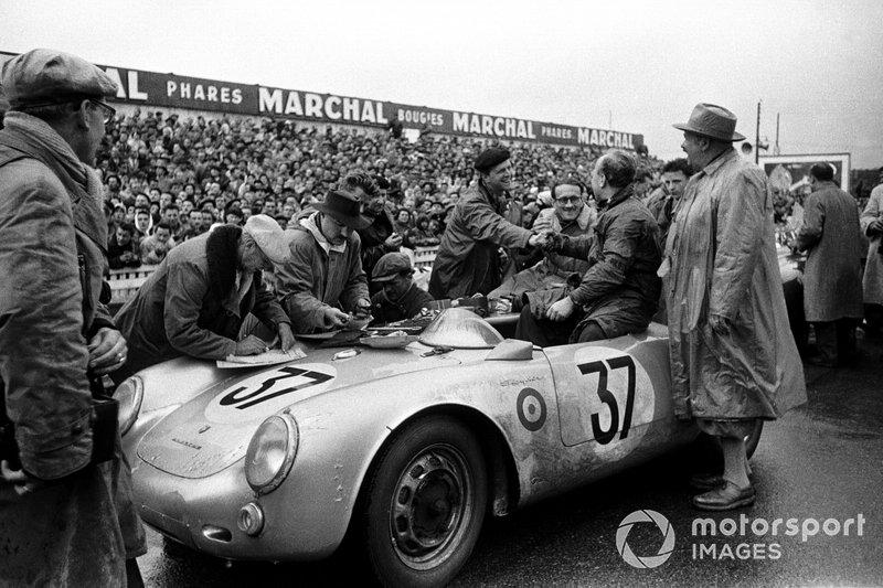 1955 Le Mans 24 Hours - Helmut Polensky, Richard von Frankenberg, Porsche 550 RS Spyder 1