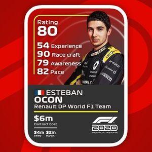Cartas del F1 2020: Esteban Ocon