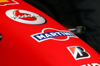 Martini logo on the Ferrari