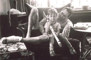 Sir Jack Brabham with his son David