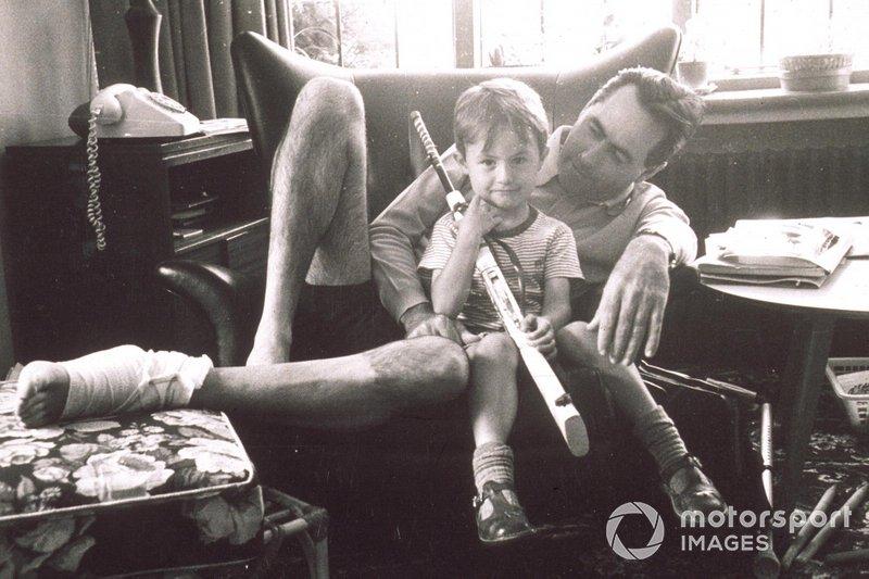 Sir Jack Brabham with his son David