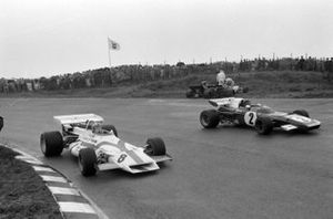 Jacky Ickx, Ferrari 312B2, Pedro Rodriguez, BRM P160, Francois Cevert, Tyrrell 002 Ford, Nanni Galli, March 711 Ford