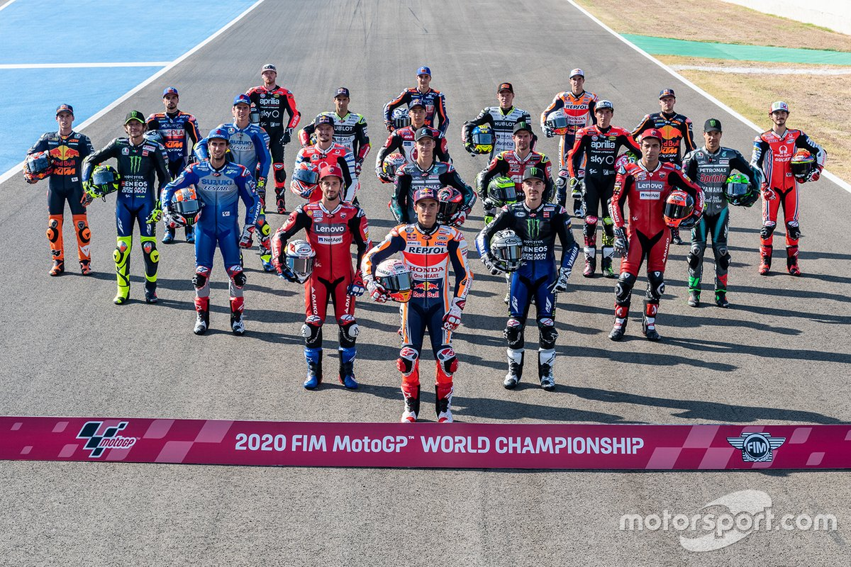 La clase de MotoGP de 2020