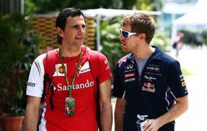 Pedro de la Rosa e Sebastian Vettel, GP della Malesia del 2014