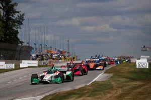 Colton Herta, Andretti Harding Steinbrenner Autosport Honda, Alex Palou, Dale Coyne Racing with Team Goh Honda
