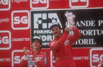 Nigel Mansell, Ferrari, Ayrton Senna, McLaren, GP del Portogallo del 1990